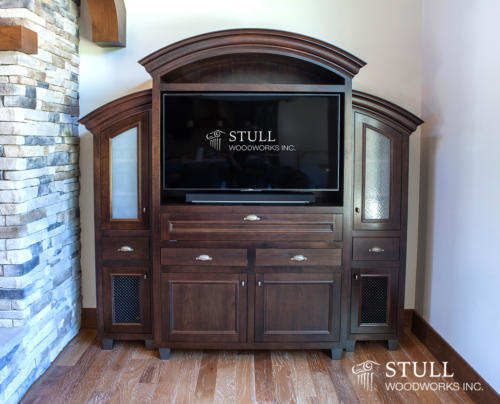 Walnut Entertainment Center