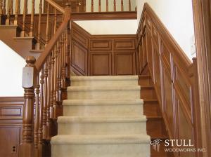 Cherry Staircase and Paneling