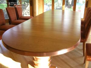 Cherry Table with Copper Banding